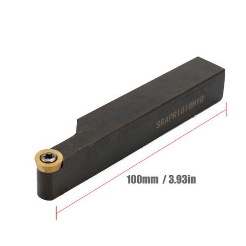 Face Milling SRAPR1616H10 Lathe Tool Holder 10Pcs RPMT10T3MO Carbide Insert V9A7