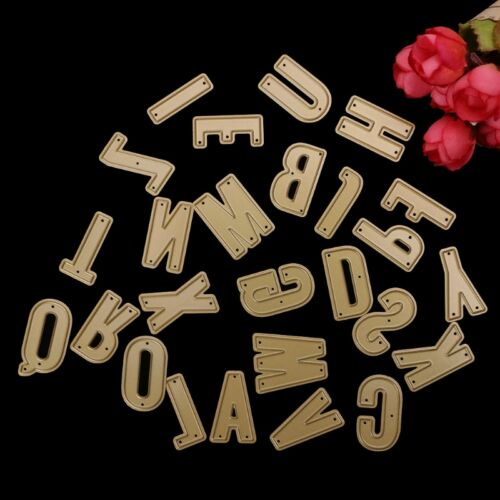 Capital Letter Cutting Dies Stencil DIY Scrapbooking Paper Card Craft Embossing