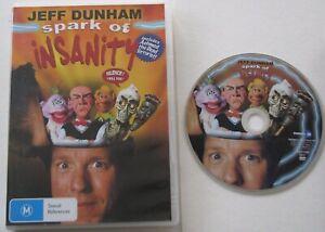 JEFF-DUNHAM-SPARK-OF-INSANITY-REGION-4-DVD-FREE-POST