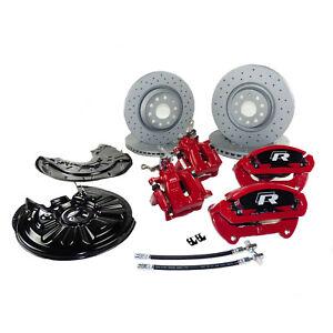 Skoda Octavia II 1Z 5E RS Bremsanlage große Bremse Bremssättel gelochte Scheiben
