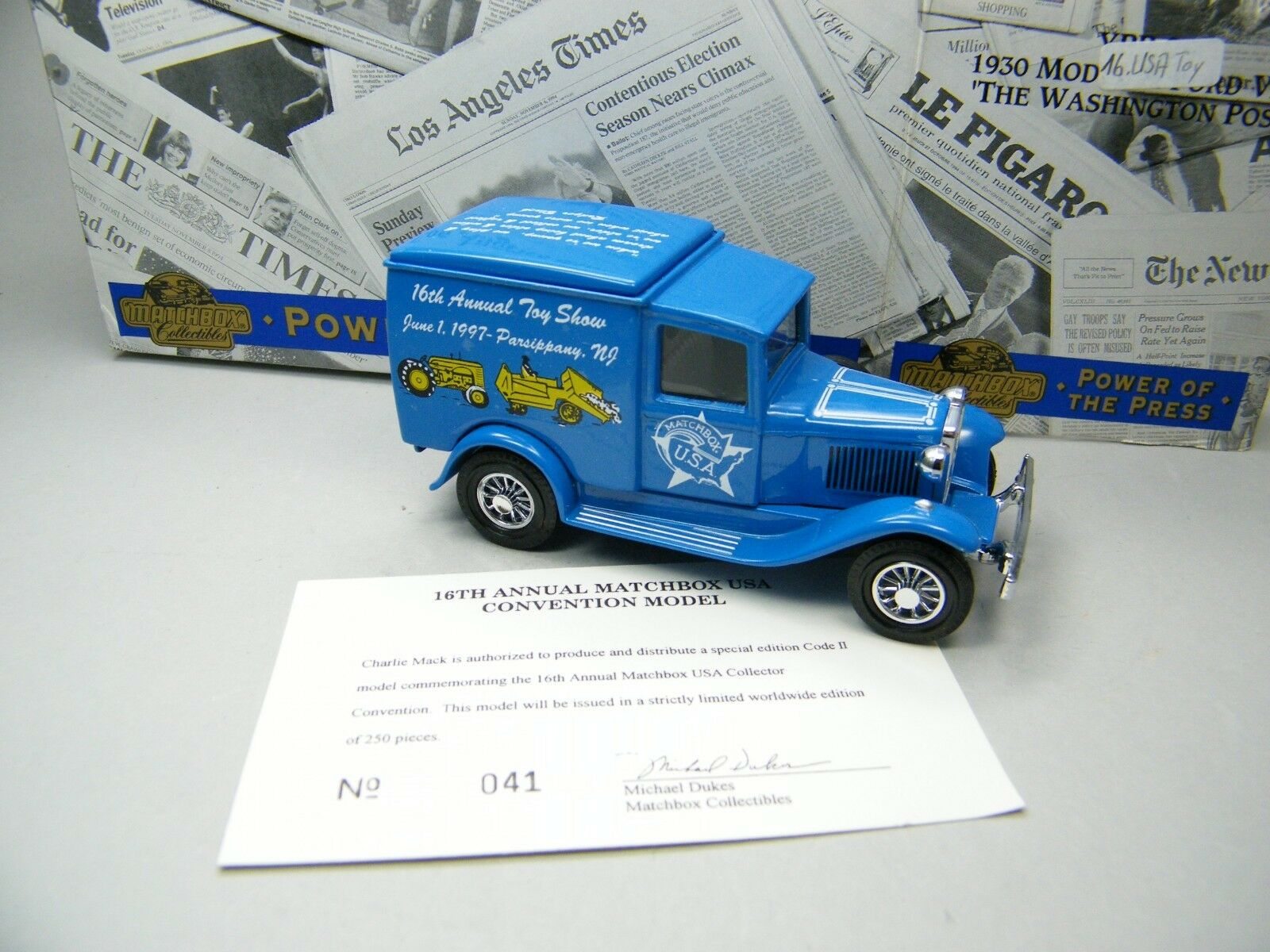 Matchbox MoY C2 Y-22 Ford Ford Ford A Matchbox USA 16th Treffen blue  OVP Bilder K08 6302ea