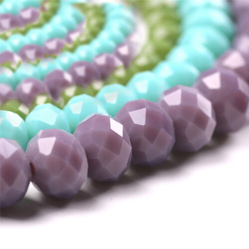 Wholesale Crystal Glass Rondelle Faceted Loose Spacer Beads DIY 2//3//4//6//8//10mm