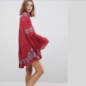 0ccd76cec7b2 Free People TE AMO EMBROIDERED Minidress Tunic Size LARGE L Retail ...