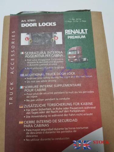 2x Additional Truck Lorry Door Locks Safety Anti-Theft for RENAULT PREMIUM 1 2