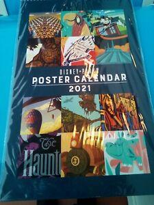 Disney Parks 2021 Poster Art Wall Monthly Calendar 12 Art Prints Frameable Ebay