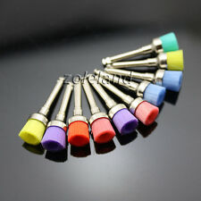 100 PCS Mixed Color Nylon Latch Flat Polishing Polisher Prophy Bowl Dental Brush