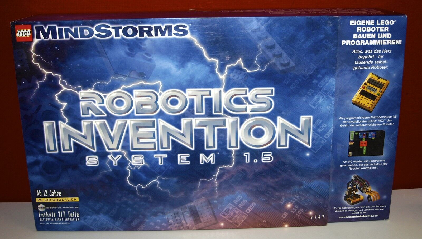Lego Mindstorms RCX 9747 Robotics Invention System,Version 1.5, OBA,OVP,BOX,TOP