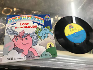 """Vintage 1985 My Little Pony """"Lost In The Clouds""""G1 Children's Book And Record"""