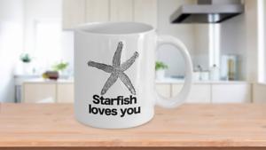 Starfish Loves You Mug White Coffee Cup Funny Gift Charlie the Unicorn Adventure