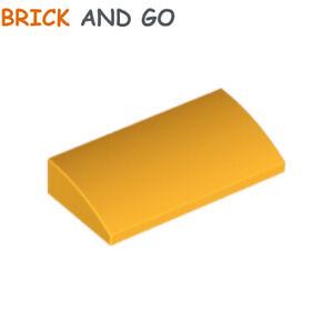 4 x LEGO 15068 Brique Courbée Brick Slope 2x2 Curved NEUF NEW jaune orangé