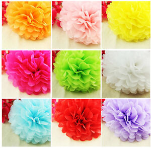 10 pcs 10 colored tissue paper pom poms flower ball wedding party image is loading 10 pcs 10 034 colored tissue paper pom mightylinksfo