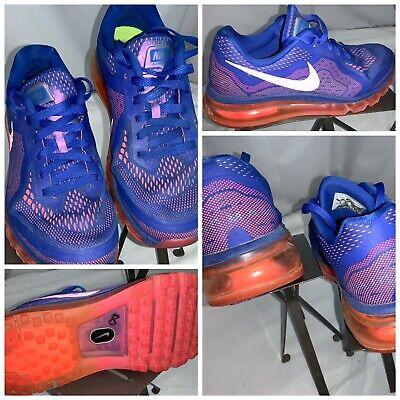 Nike Air Max 2014 Sz 8 Women Blue