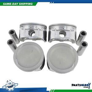 DNJ P435 Standard Complete Piston Set For 03-10 Ford Mazda 3 5 2.3L L4 DOHC 16v
