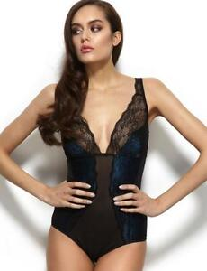 08c97c519e Gossard VIP Olympia Lace Body Black Blue 11909 New Sexy Lingerie