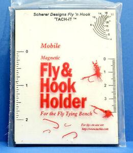 Tach It Magnetic Fly /& Hook Holder Magnettafel mit Hackle Gauge TACH-IT