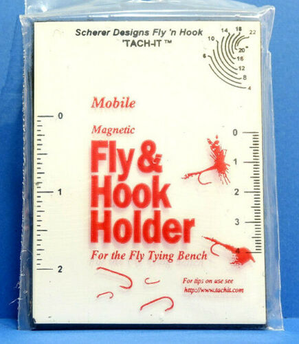 It Magnetic Fly /& Hook Holder Magnettafel mit Hackle Gauge TACH-IT Tach
