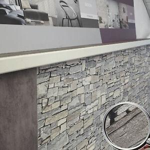 Détails sur Papier Peint Rasch 859102 Surface Pierre Gris Non-Tissé Mur en  3D Optique
