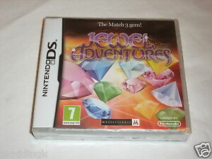 Nintendo-DS-Game-Jewel-Adventures-The-Match-3-Gem-Brand-New-Factory-Sealed