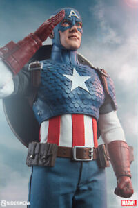 Sideshow-Marvel-Comics-Captain-America-Steve-Rogers-1-6-Scale-12-034-Action-Figure