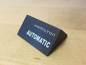Ausdauernd Platte Exposant Plakette Hamilton - Automatisch - Painted Wood - Für Colletors