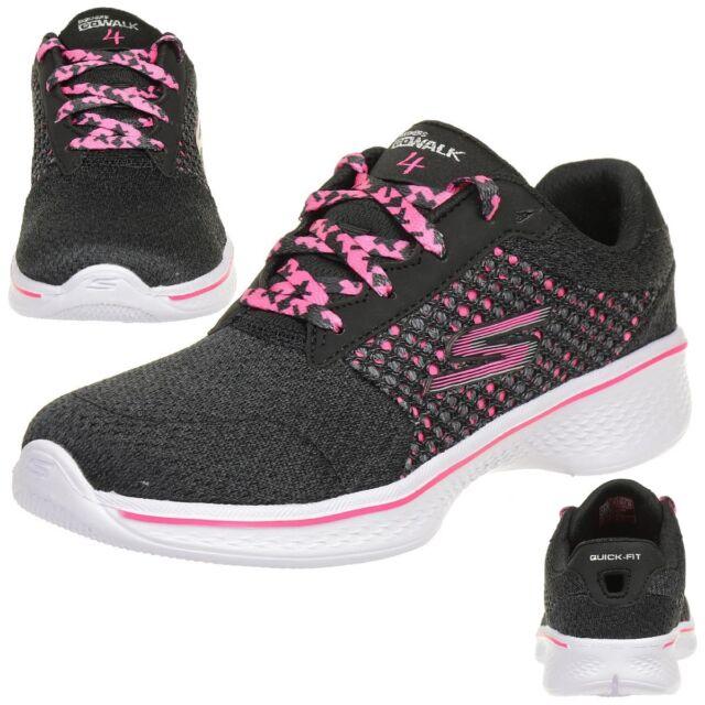 7df1802389d0c Skechers Children Go Walk 4 Exceed Sneakers Trainers Kids Shoes Walking Goga  Max