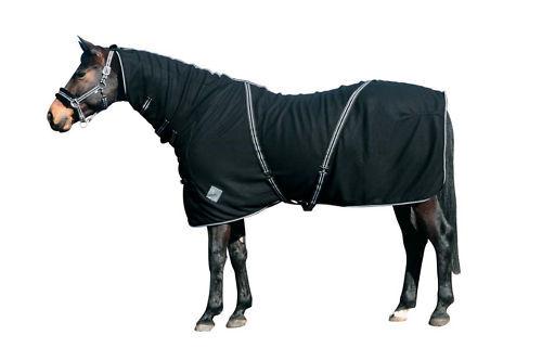 CATAGO Fleecedecke mit Halsteil 135cm schwarz Decke