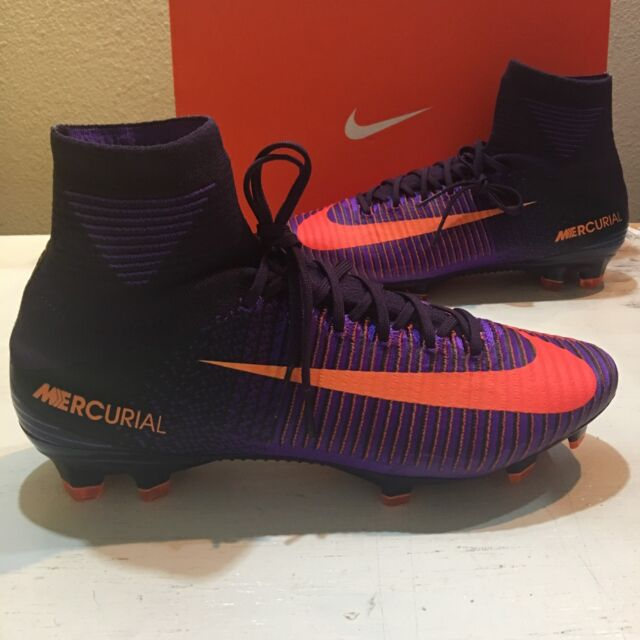 6a053ccdd68e5 Nike Mercurial Superfly 5 V FG Firm Ground Soccer Cleats Purple Size ...