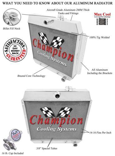 1949 1950 1951 1952 1953 1954 Chevy Cars 3 Row Champion ADV Aluminum Radiator
