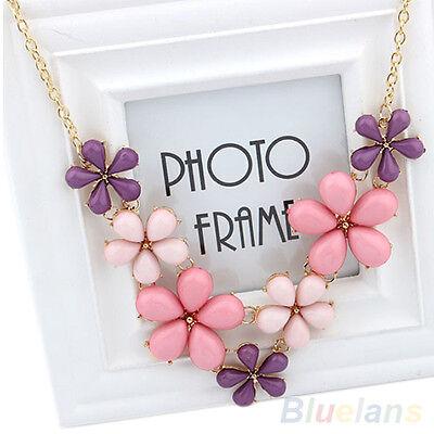 Womens Jewelry Sweet Flowers Ocean Bib Statement Collar Chain Necklace Hot Sale