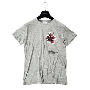 camiseta xl cuello gris Garavani 1075 redondo Valentino Hibiscus z8HqEE
