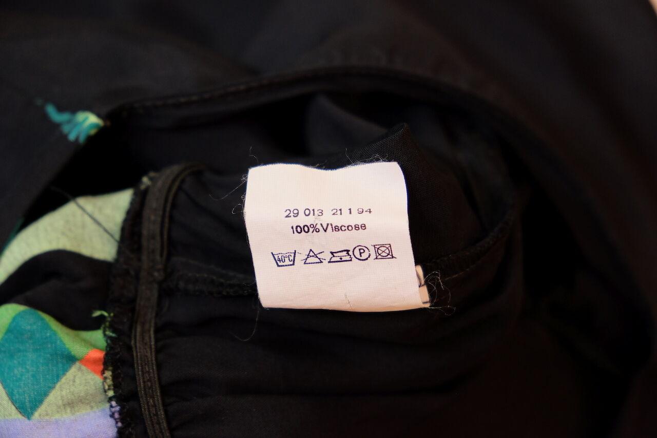 Kurze Overall jumpsuit Shorts Schwarz Bunte Muster 90er Gr. 40 40 40 True VINTAGE 90s 05e7cb