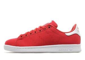 ADIDAS Originals Stan Smith Ragazze Di Tela/Scarpe da ginnastica femminile dimensioni variabili Rosso BN