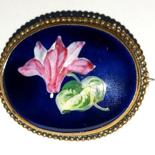Antique France Limoges Porcelain Painting Floral C