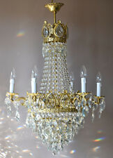 EMPIRE Antique French Vintage LUXURY Crystal Chandelier Lamp Home Fine Lighting