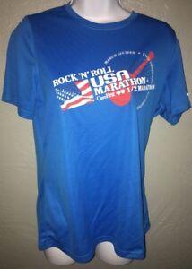 2013 Washington Dc Rock 'n' Roll Usa Half Marathon Femme L Bleu Running Shirt-afficher Le Titre D'origine Divers ModèLes RéCents
