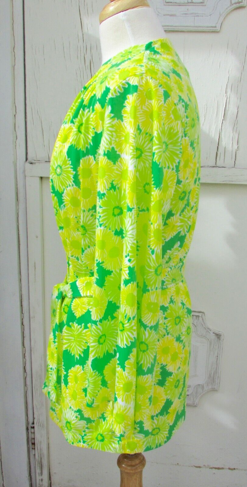 GREEN NEON VTG 70's Swimwear Cover Up-Perfection … - image 3