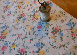 Antique-Vintage-French-Roses-Floral-Fabric-pink-blue-yellow-dolls-projects