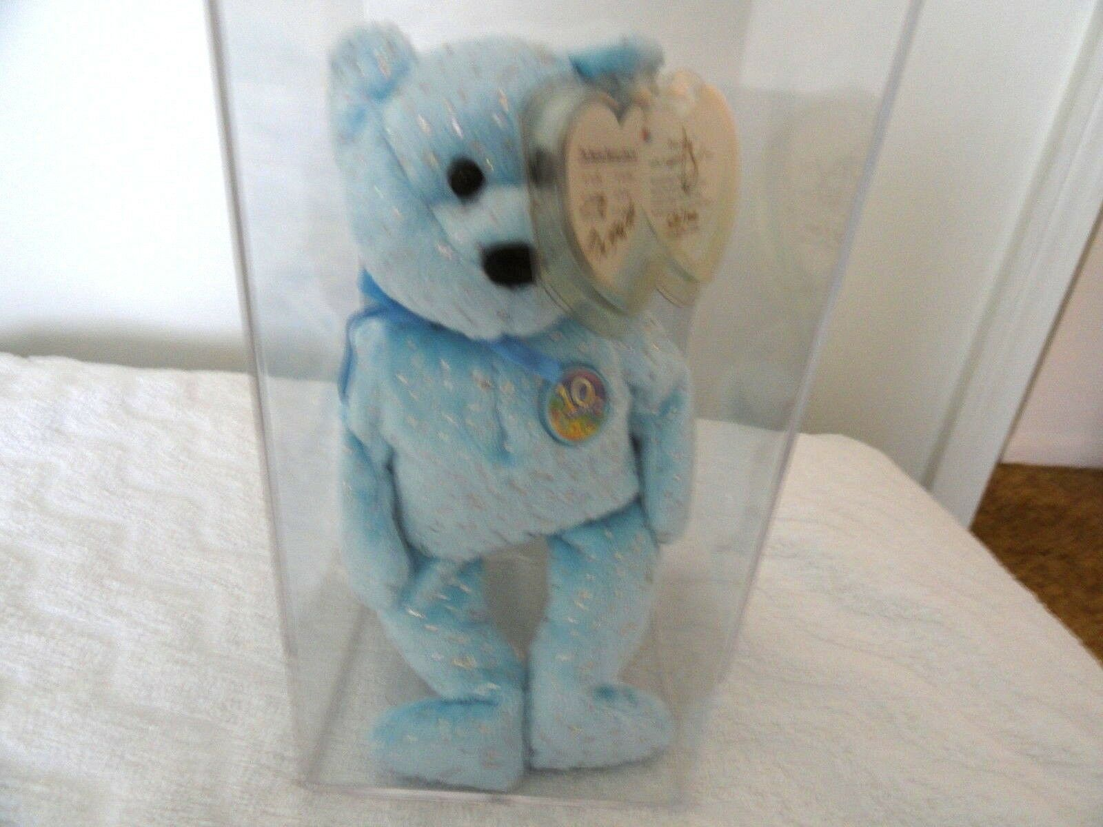 authentifizierten ty beanie baby das jahrzehnt teddy