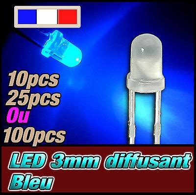 10 bleue 3mm ronde LED