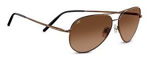 NEW-Serengeti-6826-Medium-Aviator-Sunglasses-Henna-Frame-Drivers-Gradient-Lenses