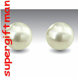 E856-Boucles-OORBELLEN-argent-Perle-d-039-Eau-Douce-7-MM