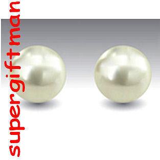 Boucles OORBELLEN argent Perle d/'Eau Douce  7 MM E856