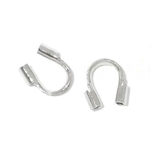Brass Horse Shoe Wire Guardians Silver 4 x 5mm  250 Pcs AFindings DIY Jewellery