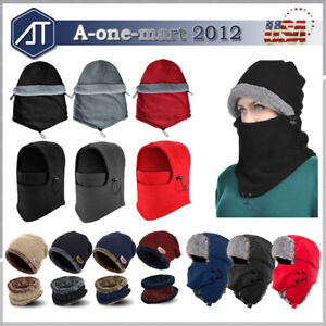 Winter-Warm-Fleece-Balaclava-Hat-Beanie-Snow-Ski-Neck-Face-Mask-Hood-Cap-Unisex