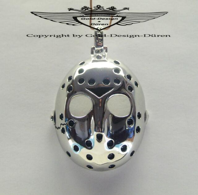 Anhänger, Jason`s Maske versilbert, Freitag der 13th, Kette, Silber, neu