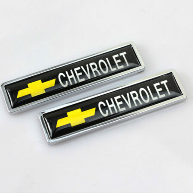 2 x Auto Seiten Aufkleber Kotflügel Emblem Abzeichen Logo Zubehör für Chevrolet