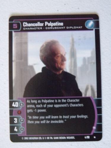 B Sith Rising Star Wars TCG SR 4//90 NM//Mint Chancellor Palpatine
