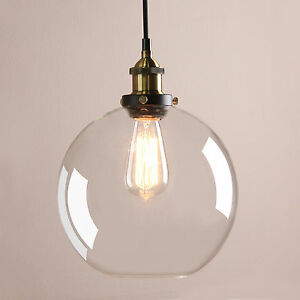 Pathson New Clear Glass Vintage Industrial Ceiling Pendant