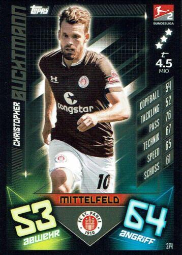 Pauli buchtmann Match coronó 19//20 liga 2019//2020 tarjeta de base nº 374 st