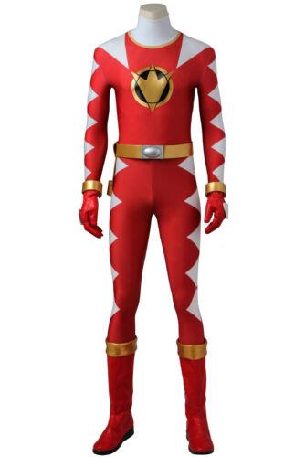 Super Sentai Dino Thunder Red And White Rangers Halloween Jumpsuits Costume